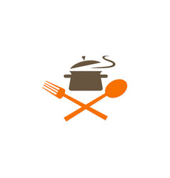 cook food kitchen logo vector image