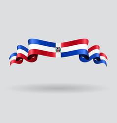 Dominican Republic wavy flag vector image vector image