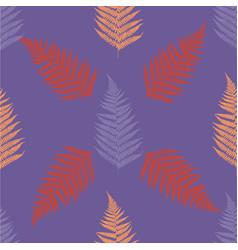 fern seamless pattern ultra violet vector image