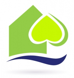 green nature eco house icon vector image vector image