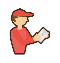 man post mail envelope vector image
