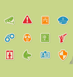 security symbols icon set vector image