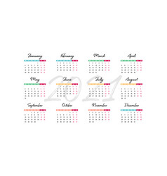 2021 desk calendar 210 x 100 mm vector