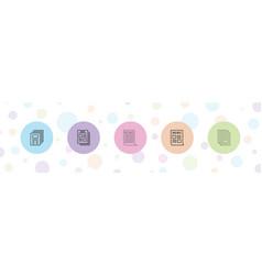 5 headline icons vector