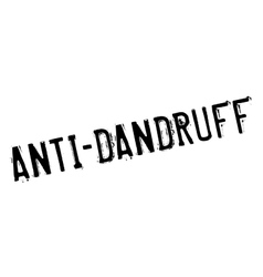 Anti-Dandruff rubber stamp vector