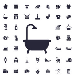 Bath and shower icon vector