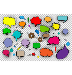 blank speech bubbles set of comic speech bubbles vector image