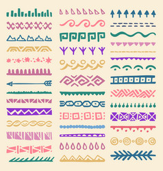borders collection in ethnic style vector image