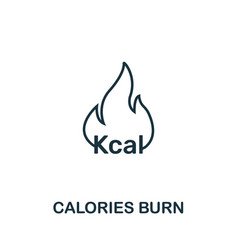 Calories burn icon thin outline style design from vector