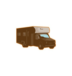 Campervan Motorhome Retro vector