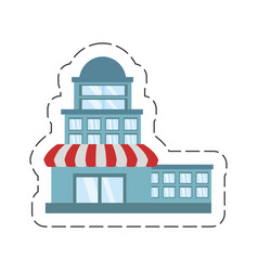 cartoon building store market vector image