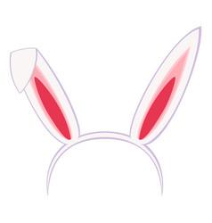 Cartoon pastel bunny party ears vector