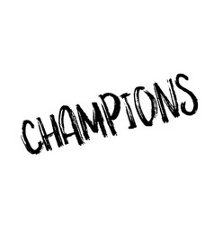Champions rubber stamp vector