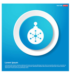 christmas ball icon abstract blue web sticker vector image