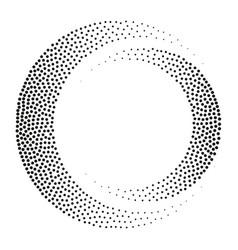 circle dot pattern halftone round vector image