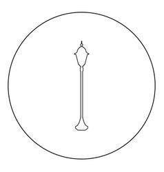 City street lantern icon black color in circle vector