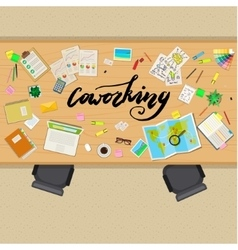 Concept of coworking vector