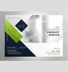 corporate presentation brochure template in vector image