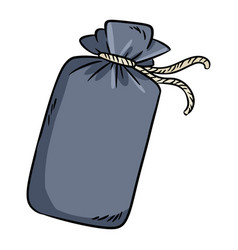 Cotton pouch doodle image cute cartoon bag image vector