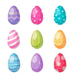 Easter eggs cartoon set vector
