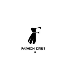 fashion and dress logo design vector image