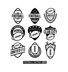Football club set logo template design vector