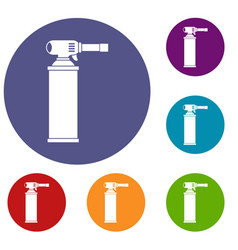 Gas cylinder icons set vector