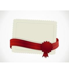 Gift card and ribbon vector