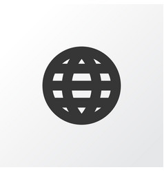 Globe icon symbol premium quality isolated earth vector