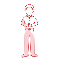 golf player avatar character vector image