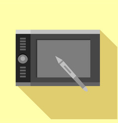 Graphics tablet icon flat style vector