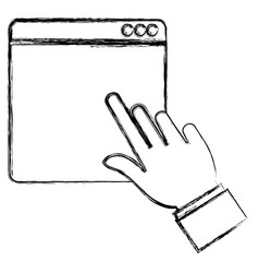 Hand indexing webpage interface template vector