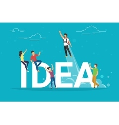 Idea concept of business people vector image