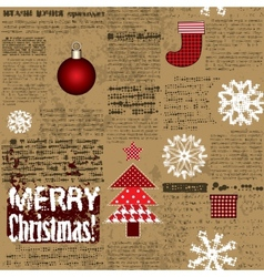 Imitation of the newspaper with Christmas elements vector