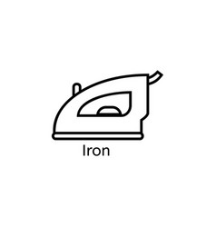 Iron simple line icon ironing clothes thin linear vector