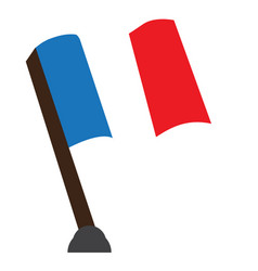 isolated flag of france vector image