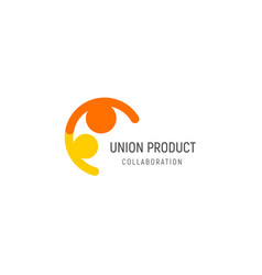 isolated union friendly people vector image