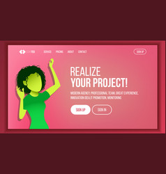 landing web page design website business vector image