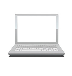 laptop with blank screen vector image