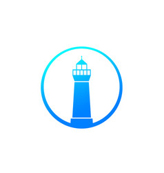 Lighthouse icon on white vector