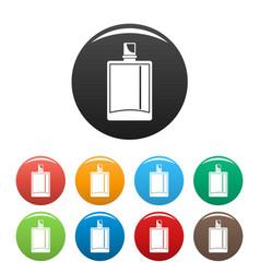 lime perfume icons set color vector image