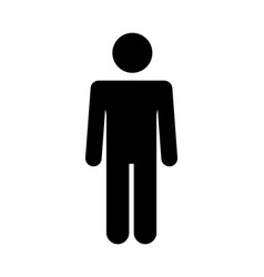 Man icon simple flat symbol perfect black vector