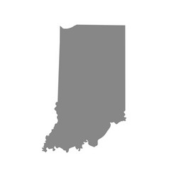 map of the us state of indiana vector image