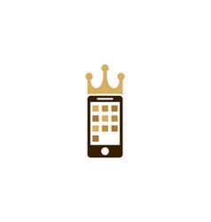 mobile king logo icon design vector image