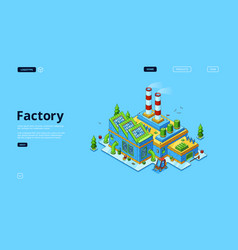 modern factory power station manufactory vector image