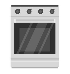 Modern gas oven icon cartoon style vector