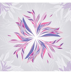 Multicolored flower vector