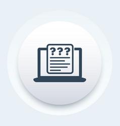 online survey questionnaire vector image