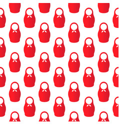 pattern of russian dolls vector image