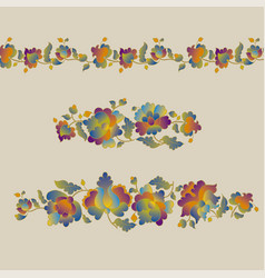 Peasant style flower vector